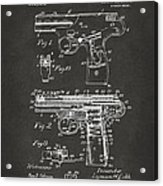 1911 Automatic Firearm Patent Artwork - Gray Acrylic Print by Nikki Marie Smith