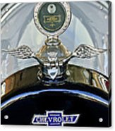 1915 Chevrolet Touring Hood Ornament Acrylic Print by Jill Reger