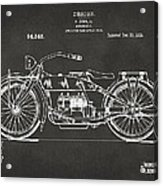 1919 Motorcycle Patent Artwork - Gray Acrylic Print by Nikki Marie Smith