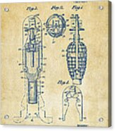 1921 Explosive Missle Patent Vintage Acrylic Print by Nikki Marie Smith