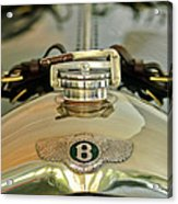 1925 Bentley 3-liter 100mph Supersports Brooklands Two-seater Radiator Cap Acrylic Print by Jill Reger