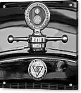 1928 Dodge Brothers Hood Ornament - Moto Meter Acrylic Print by Jill Reger