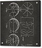 1929 Basketball Patent Artwork - Gray Acrylic Print by Nikki Marie Smith