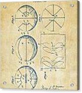 1929 Basketball Patent Artwork - Vintage Acrylic Print by Nikki Marie Smith