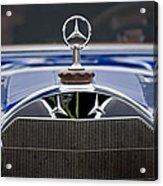 1929 Mercedes Benz S Erdmann And Rossi Cabiolet Hood Ornament Acrylic Print by Jill Reger