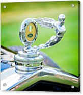 1931 Ford Model A Deluxe Fordor Hood Ornament Acrylic Print by Sebastian Musial