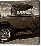 1931 Model T Ford Monochrome Acrylic Print by Steve Harrington