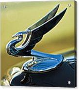 1935 Chevrolet Sedan Hood Ornament 2 Acrylic Print by Jill Reger
