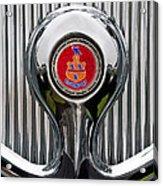 1935 Pierce-arrow 845 Coupe Emblem Acrylic Print by Jill Reger