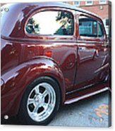 1937 Chevy Two Door Sedan Rear And Side View Acrylic Print by John Telfer