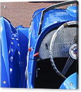 1937 Peugeot 402 Darl'mat Legere Speacial Sport Roadster Recreation Steering Wheel Emblem Acrylic Print by Jill Reger