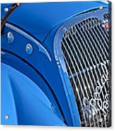 1937 Peugeot 402 Darl'mat Legere Special Sport Roadster Recreation Grille Emblem Acrylic Print by Jill Reger