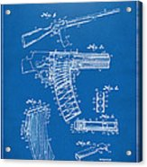 1937 Police Remington Model 8 Magazine Patent Artwork - Blueprin Acrylic Print by Nikki Marie Smith