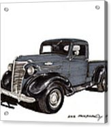 1938 Chevy Pickup Acrylic Print by Jack Pumphrey