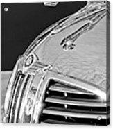 1938 Dodge Ram Hood Ornament 4 Acrylic Print by Jill Reger