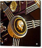 1939 Ford Standard Woody Steering Wheel Acrylic Print by Jill Reger