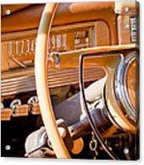 1942 Packard Darrin Convertible Victoria Steering Wheel Acrylic Print by Jill Reger