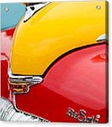1946 Desoto Skyview Taxi Cab Hood Ornament Acrylic Print by Jill Reger