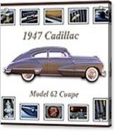 1947 Cadillac Model 62 Coupe Art Acrylic Print by Jill Reger