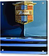 1947 Nash Surburban Hood Ornament Acrylic Print by Jill Reger