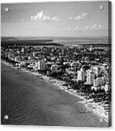 1948 Miami Beach Florida Acrylic Print by Retro Images Archive