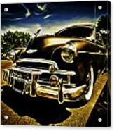 1949 Chevrolet Deluxe Coupe Acrylic Print by motography aka Phil Clark