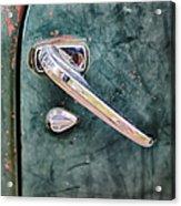 1950 Classic Chevy Pickup Door Handle Acrylic Print by Adam Romanowicz