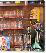 1950's - Diner - A 1950's Diner Acrylic Print by Mike Savad