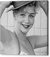 1950s Pinup Acrylic Print by Chuck Staley
