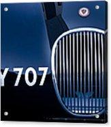 1951 Jaguar Proteus C-type Grille Emblem 3 Acrylic Print by Jill Reger