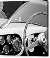 1953 Ferrari 340 Mm Lemans Spyder Steering Wheel Emblem Acrylic Print by Jill Reger