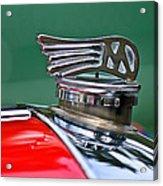 1953 Morgan Plus 4 Le Mans Tt Special Hood Ornament Acrylic Print by Jill Reger