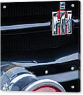 1954 International Harvester R140 Woody Grille Emblem Acrylic Print by Jill Reger