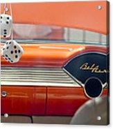 1955 Chevrolet Belair Dashboard Acrylic Print by Jill Reger