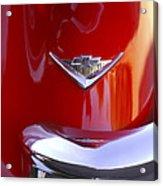 1955 Chevrolet Belair Nomad Emblem Acrylic Print by Jill Reger