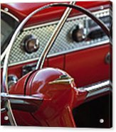1955 Chevrolet Belair Nomad Steering Wheel Acrylic Print by Jill Reger
