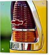 1955 Chevrolet Taillight Emblem Acrylic Print by Jill Reger