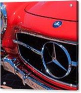 1955 Mercedes-benz 300sl Gullwing Grille Emblems Acrylic Print by Jill Reger