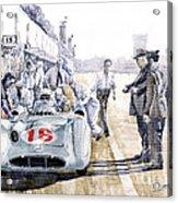 1955 Mercedes Benz W 196 Str Stirling Moss Italian Gp Monza Acrylic Print by Yuriy  Shevchuk