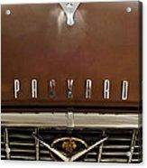 1955 Packard 400 Hood Ornament Acrylic Print by Jill Reger