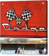 1956 Dodge 500 Series Photo 8b Acrylic Print by Anna Villarreal Garbis