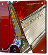 1957 Chevrolet Belair Taillight Acrylic Print by Jill Reger