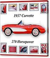 1957 Chevrolet Corvette Art Acrylic Print by Jill Reger