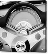 1957 Chevrolet Corvette Convertible Steering Wheel 2 Acrylic Print by Jill Reger