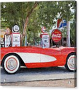 1957 Chevy Corvette Acrylic Print by Robert Jensen