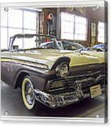 1957 Ford Fairlane Acrylic Print by Steve Benefiel