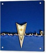 1959 Pontiac Bonneville Emblem Acrylic Print by Jill Reger