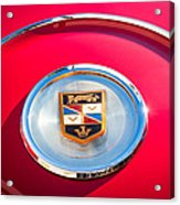 1960 Chrysler Imperial Crown Convertible Emblem Acrylic Print by Jill Reger