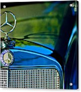 1960 Mercedes-benz 220 Se Convertible Hood Ornament Acrylic Print by Jill Reger