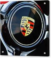 1960 Porsche 356 B Roadster Steering Wheel Emblem Acrylic Print by Jill Reger